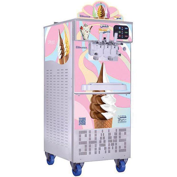 ماشین بستنی ساز تک فاز شمس (با اینورتور) مدل سناتور
